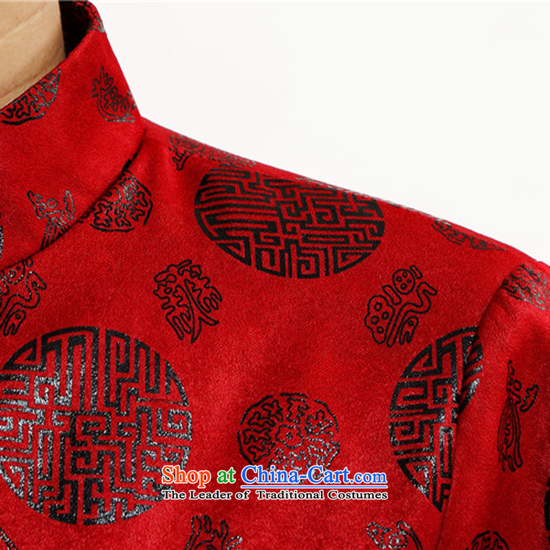 Kanaguri mouse in older men Tang dynasty China Wind Jacket coat Chinese men detained in the autumn of disk larger Tang dynasty grandpa red聽185 kanaguri mouse (JINLISHU) , , , shopping on the Internet