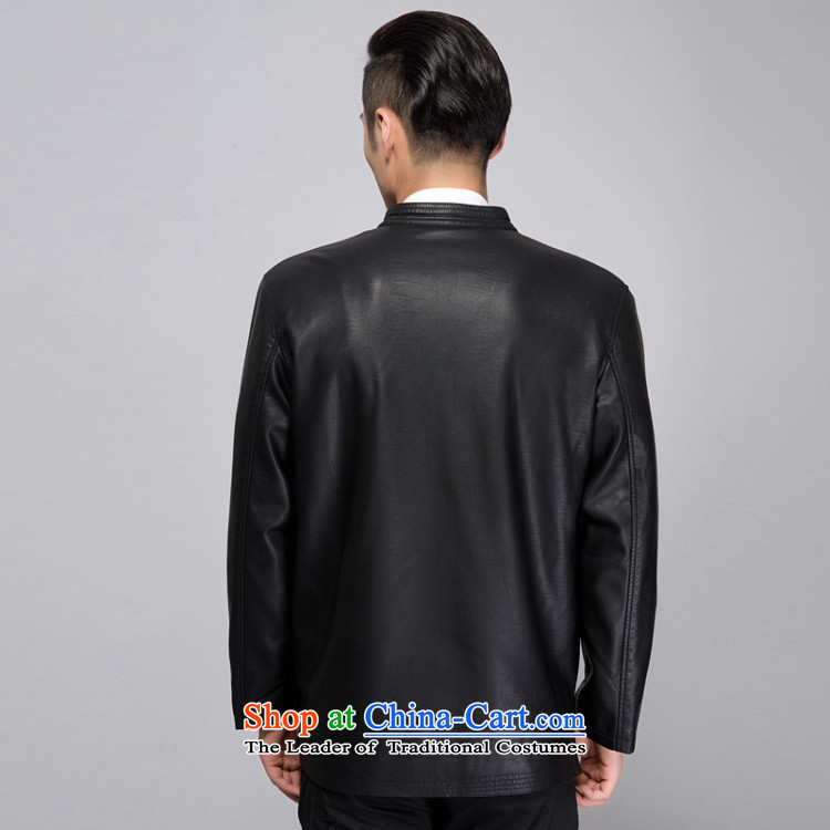 This new cabinet yeon middle-aged men Fall/Winter Collections washable leather warm coat embroidered dragon Windproof Jacket in long xl father shirt relaxd fit black single聽L photo, prices, brand platters! The elections are supplied in the national character of distribution, so action, buy now enjoy more preferential! As soon as possible.