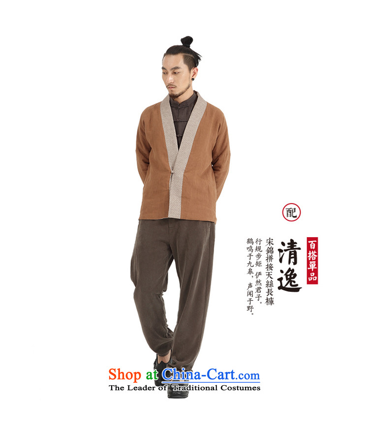 To Tree China wind men ball-Service Pack for long-sleeved men Tang Gown Han-Cardigan improved jacket Chinese Disc detained tea/aloeswood small /S picture, prices, brand platters! The elections are supplied in the national character of distribution, so action, buy now enjoy more preferential! As soon as possible.