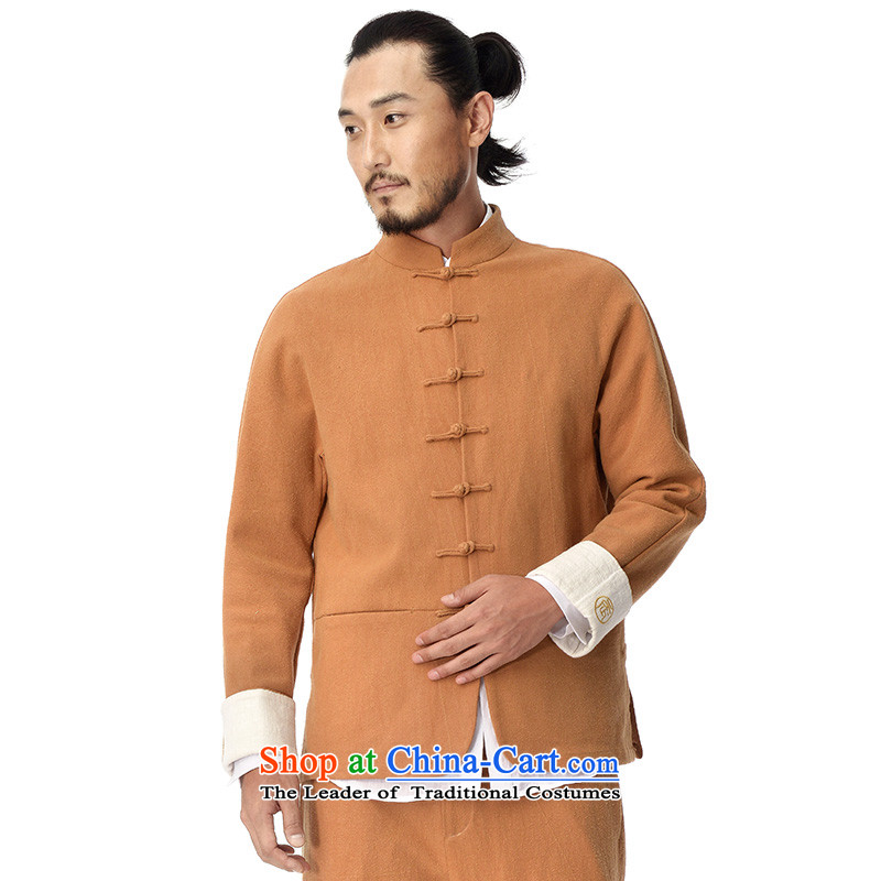To Tree China wind Tang Dynasty Chinese zodiac and long-sleeved sweater Chinese Disc clip cotton linen clothes men rattan small yellow