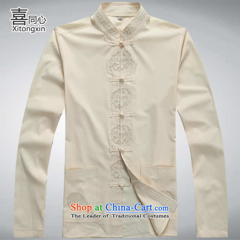 燭he new 2015 concentric-hi in older men Tang jacket燲XXL M