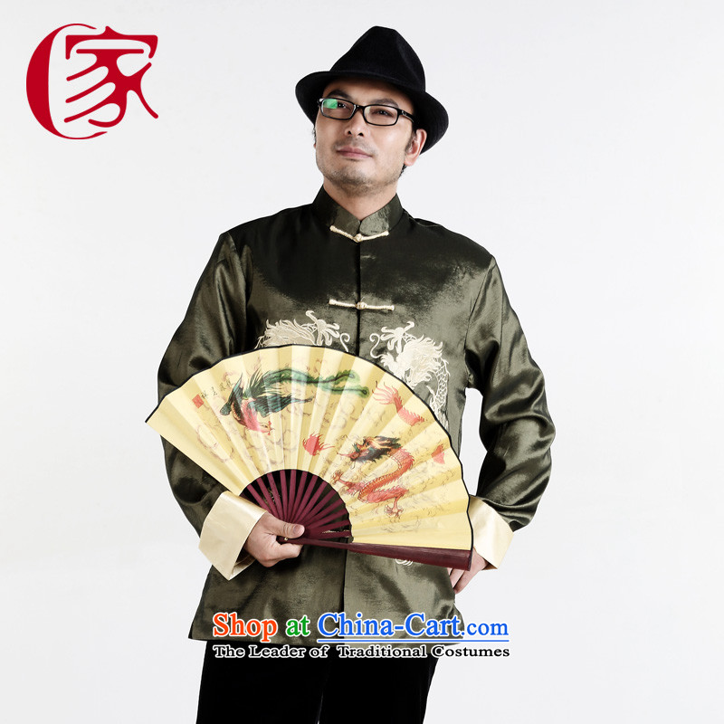A father who loaded gakka autumn and winter, older men Tang dynasty long-sleeved National Chi casual clothing damask on Tsing?175_92_L_