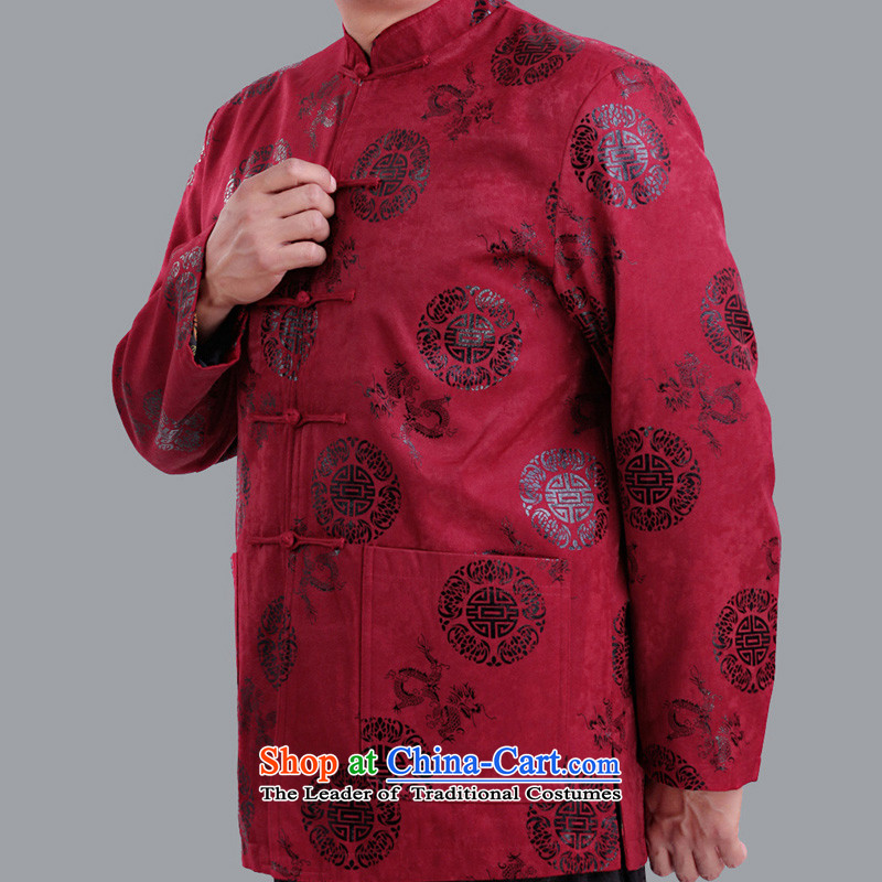 The autumn and winter and thin cotton long-sleeved jacket from older Tang-Hi Tang dynasty men  field 茫镁貌芒 upscale clothing 1281 1281 rocketed to older聽180 code clip cotton winter_