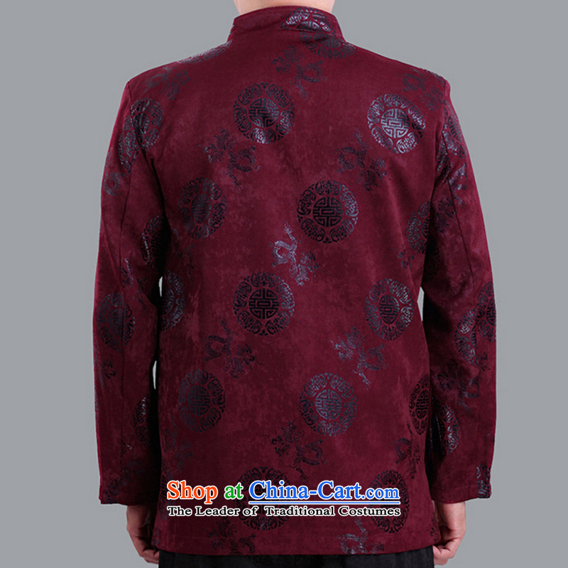 The autumn and winter and thin cotton long-sleeved jacket from older Tang-Hi Tang dynasty men  field ãþòâ upscale clothing 1281 1281 rocketed to older 180 code clip cotton winter, the Cave of the elderly has been pressed shopping on the Internet
