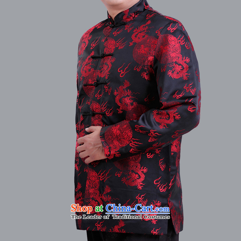 The autumn and winter and festive red jacket in marriage Tang older men, by order of the Tang Dynasty to live a life of Tang Dynasty S1102 black�5 yards of cotton folder Winter