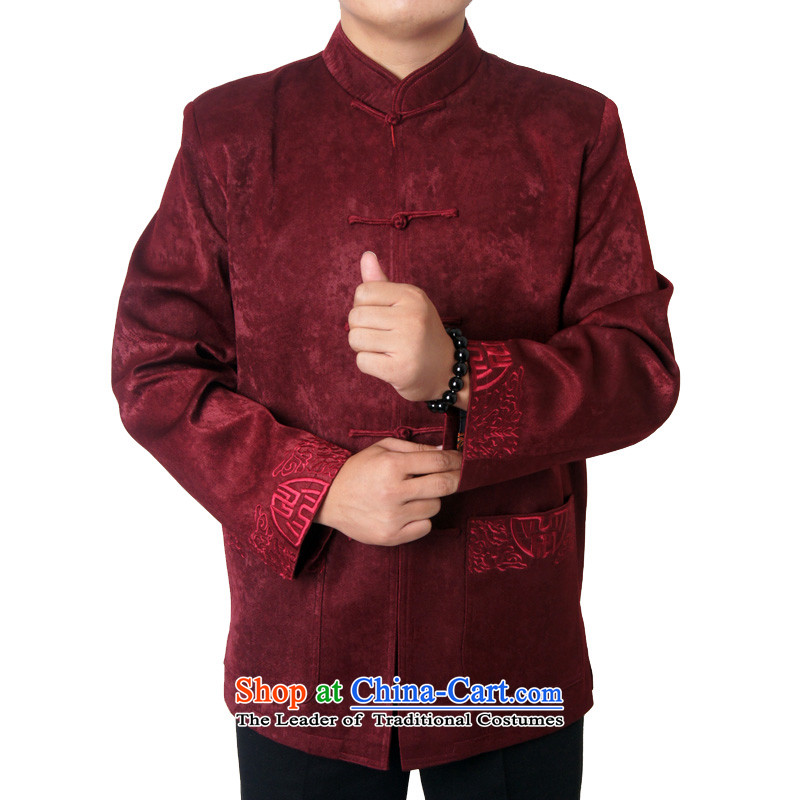 Mr Hui's autumn and winter British New Chinese cotton coat upmarket elderly men Tang dynasty loose thick long-sleeved jacket male 1451 Tang, deep red聽170, the British Mr Rafael Hui (sureyou) , , , shopping on the Internet