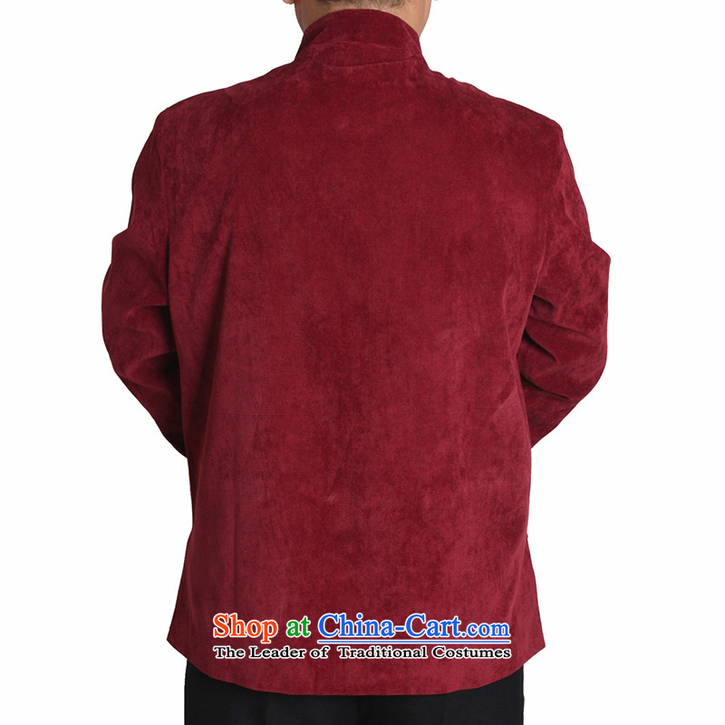 Adam and Eve elderly men fall/winter leisure 15 Tang dynasty solid color embroidery in older upscale male and Tang jackets Y730 Dark Blue聽190 yards folder, Adam and Eve cotton winter elderly聽shopping on the Internet has been pressed.