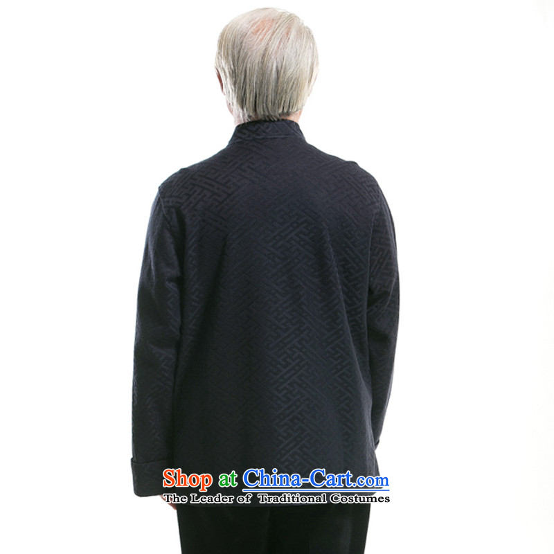 Bosnia and in autumn and winter thre line of older men Tang jackets cotton clothing construction cuff older Tang blouses ethnic Chinese collar disc Tang dynasty detained F0770聽XXL/185, blue line (gesaxing Bosnia and thre) , , , shopping on the Internet