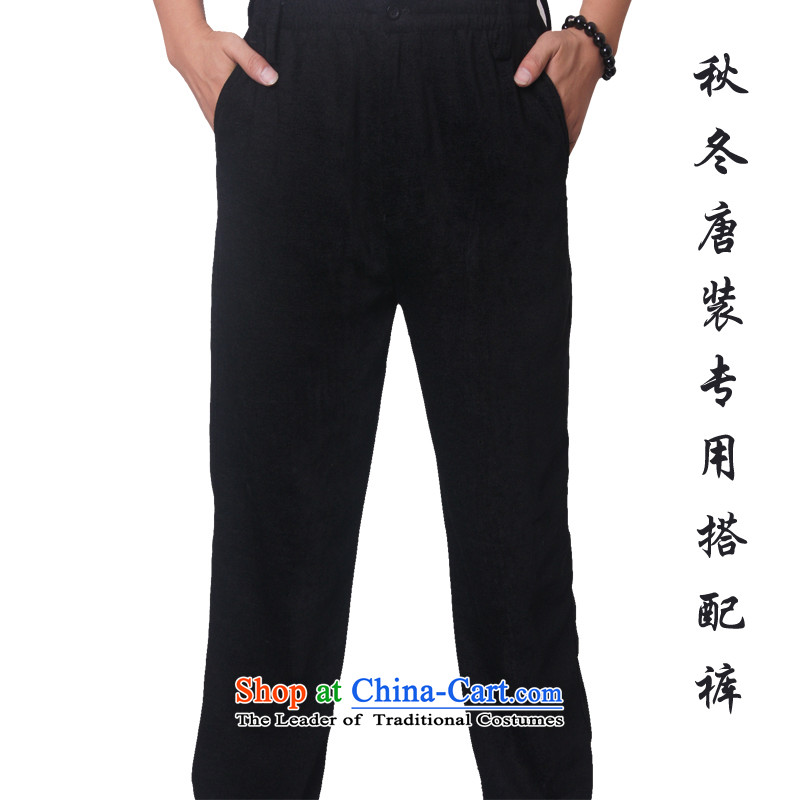 Mr Rafael Hui, Mr Henry Tang Ying-loaded in older pants_casual pants and Tang pants with loose trousers in Tang Dynasty older with a dedicated 502 pants Black 190