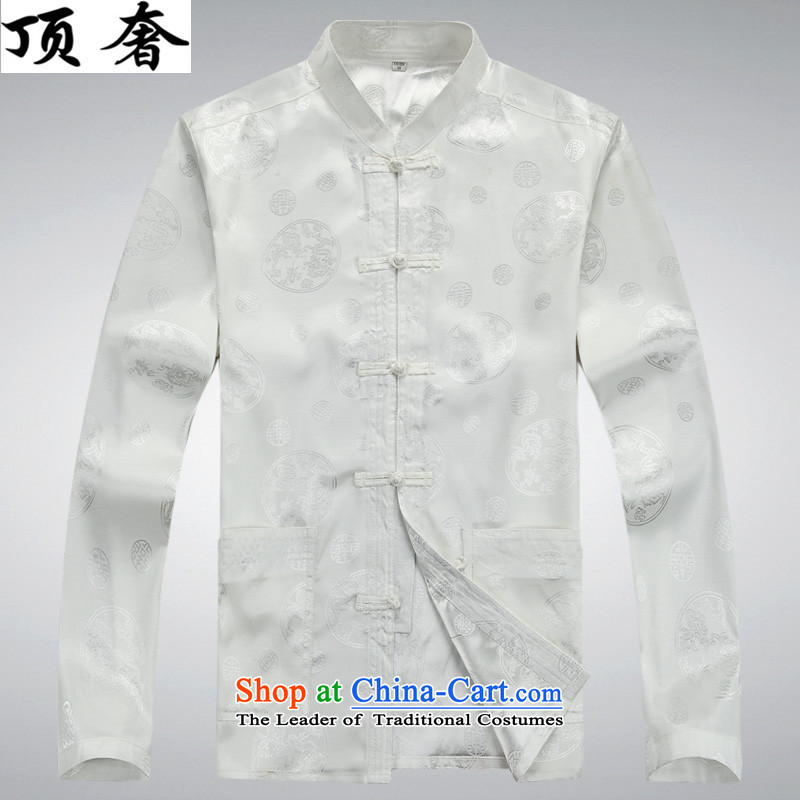 Top Luxury thin, Tang dynasty and long-sleeved jacket, sweater in spring and autumn 2015 China wind disc is older men Tang dynasty improvements with 806.1) long-sleeved white M170, kit top luxury shopping on the Internet has been pressed.