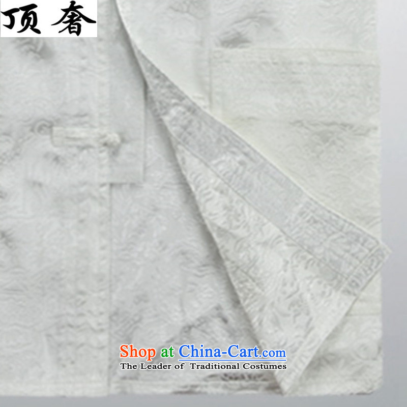 Top Luxury thin, Tang dynasty and long-sleeved聽jacket, sweater in spring and autumn 2015 China wind disc is older men Tang dynasty聽improvements with 806.1) long-sleeved white聽M170, kit top luxury shopping on the Internet has been pressed.