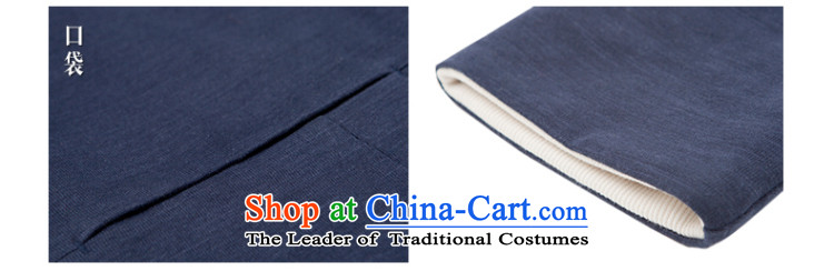 In Shan Abraham China wind coin collar jacket men stylish shirt retro Sau San Chinese Cardigan Zen autumn and winter blue XS picture, prices, brand platters! The elections are supplied in the national character of distribution, so action, buy now enjoy more preferential! As soon as possible.