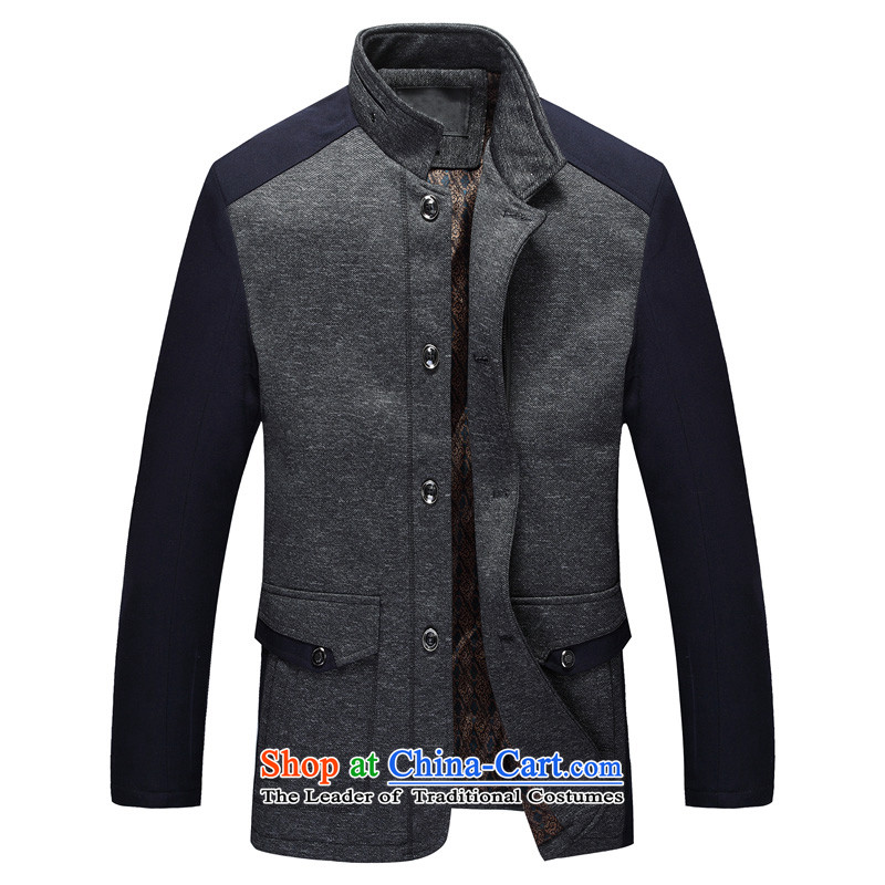 Sato strong Tang dynasty 2014 men's jacket coat Fall_Winter Collections in the father of older men's jackets?  8896?gray?175