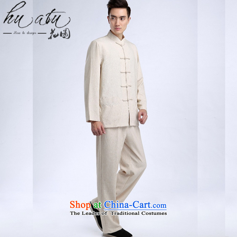 It fall inside the new Man Tang Dynasty Chinese tunic linen collar improvement of ethnic Han-Tang Dynasty Package picture color male XXL