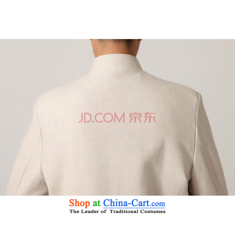 Picking frequency men Tang long-sleeved shirt with Men's Mock-Neck Chinese tunic of ethnic Han-black jacket聽- 2 White Tang聽, L, picking frequency , , , shopping on the Internet