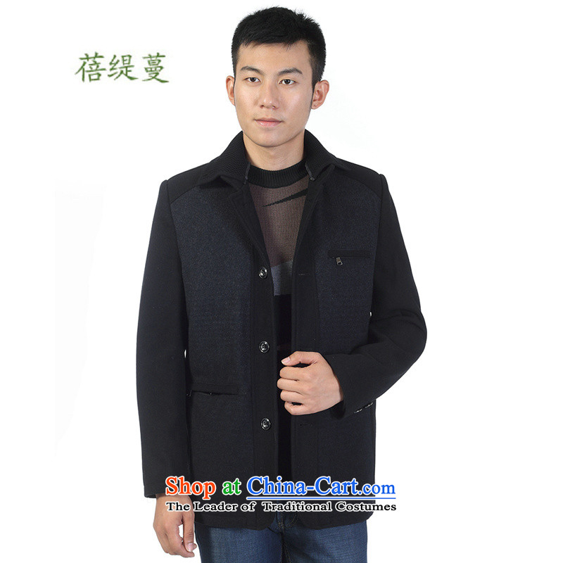 Mrs Ingrid Yeung economy in the new 2014 Overgrown Tomb of older men's jackets upscale business casual jacket father boxed collar Zip Sweater H 916 black and gray 180
