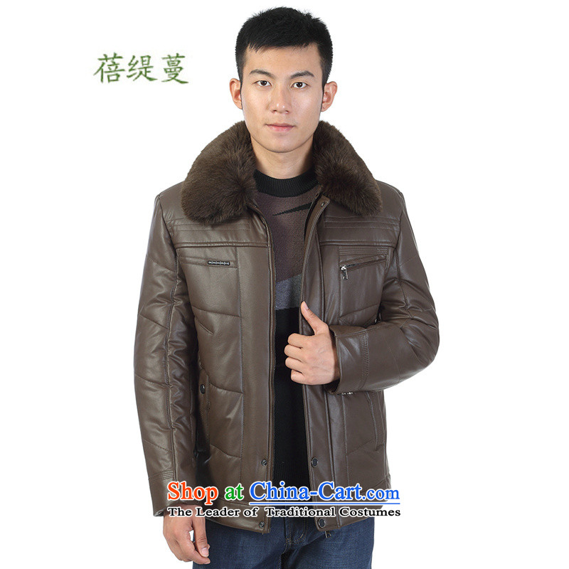 Mrs Ingrid Yeung as Overgrown Tomb of�winter clothing middle-aged men 2014 cotton robe in large jacket elderly men in the long load father cotton coat H 2335 pickled color�175