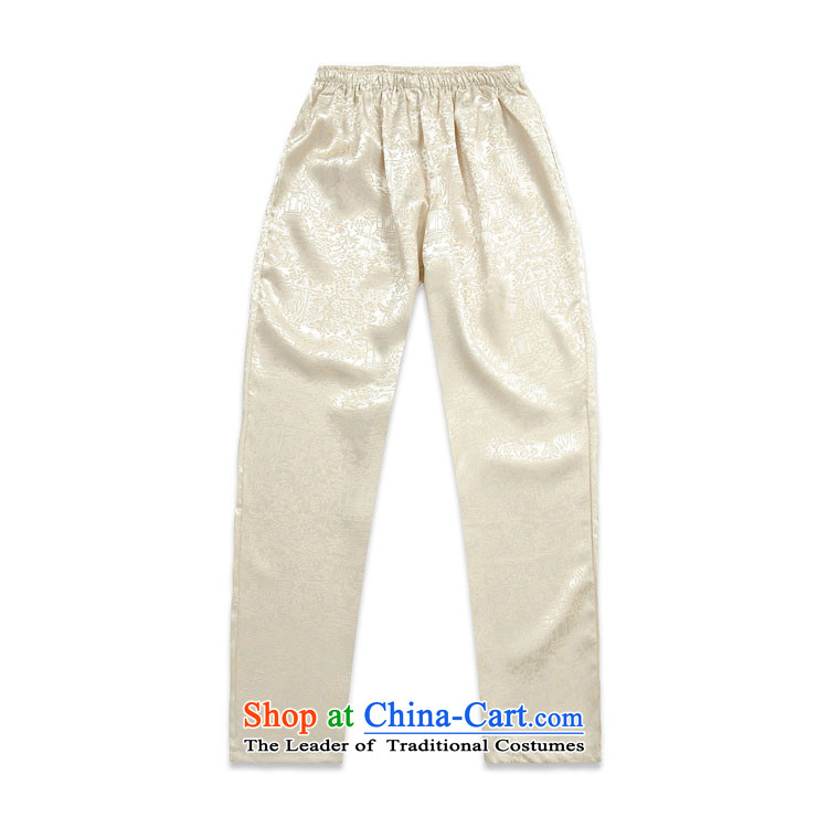 Tang Dynasty pants male taxi Tang Dynasty Tang Tang dynasty pants Kit Yellow XXL