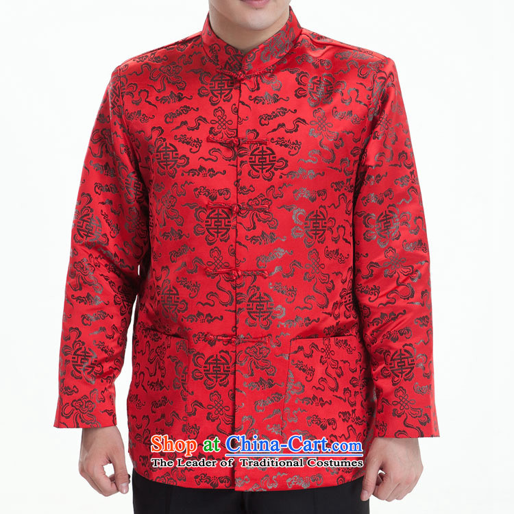 Cheung-Hi Tang dynasty male taxi Tang dynasty brocade coverlets Tang Dynasty Tang dynasty long-sleeved Tang gown, in autumn and winter older black聽170_92_XL_
