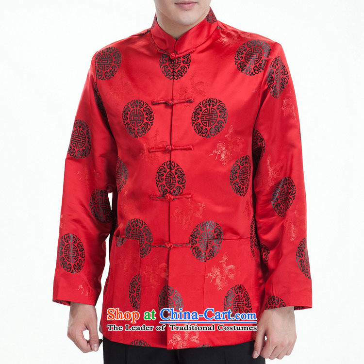 Park Hee-men in Tang Dynasty long-sleeved older winter coats jubilation mezzanine folder cotton birthday of the Tang dynasty watermelon red_winter clothing _folder_ 170_92_XL_ cotton