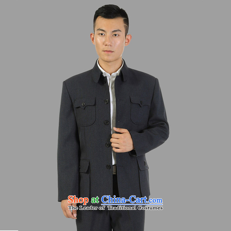 Read and the elderly in the star men Chinese tunic suit for both business and leisure services with Father Zhongshan older persons kit聽185CM_80 Gray