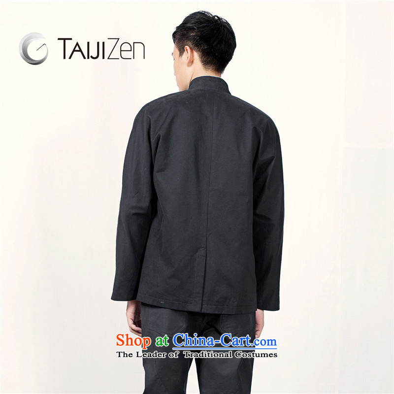 Tai Chi retreat 2014 new TAIJIZEN of autumn and winter stylish men Tang dynasty China wind knots Han-Army Green聽XL,TAIJIZEN,,, shopping on the Internet