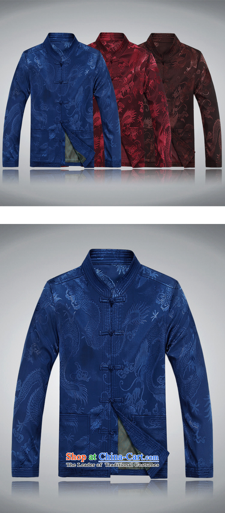 Hiv Rollet spring and autumn in older men Tang dynasty long-sleeved sweater birthday Tang dynasty male jacket grandfather Tang jacket deep red聽XXXL picture, prices, brand platters! The elections are supplied in the national character of distribution, so action, buy now enjoy more preferential! As soon as possible.