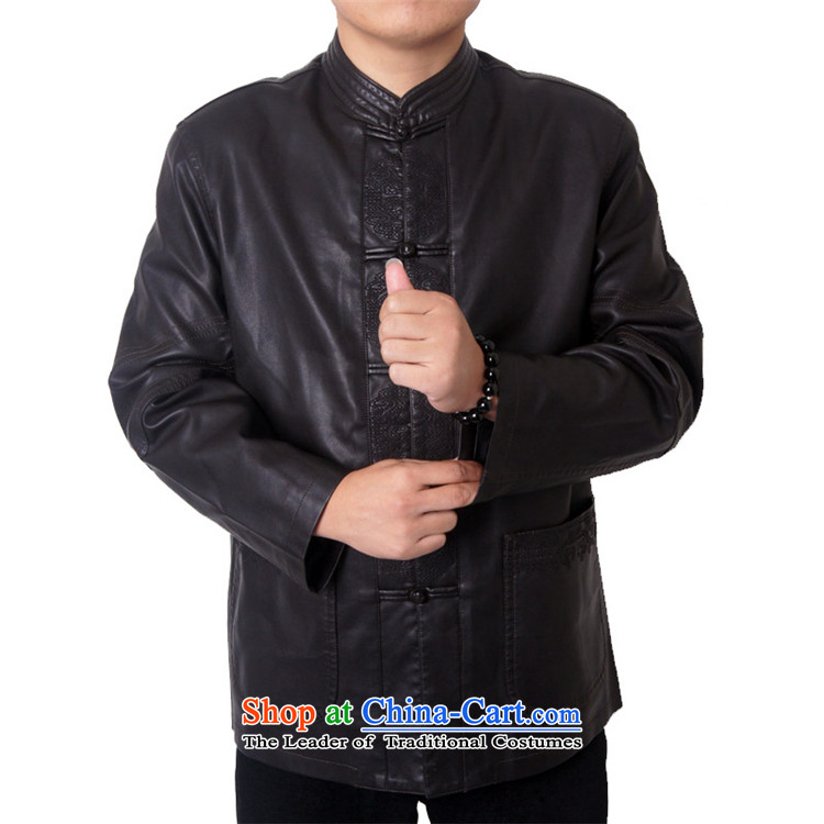Mr Rafael Hui, the British mail package of Men's Mock-Neck upscale thick leather clothes men Imitated leather Tang Dynasty Chinese Tang dynasty collar PU jacket, black聽170 PHOTO 818, prices, brand platters! The elections are supplied in the national character of distribution, so action, buy now enjoy more preferential! As soon as possible.