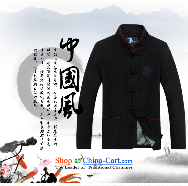 The new wool Tang JIEYA-WOLF2015 replacing Long-sleeve thick autumn and winter jacket, men cashmere Tang Dynasty is smart casual autumn and winter, mauve men聽190/XXXL male picture, prices, brand platters! The elections are supplied in the national character of distribution, so action, buy now enjoy more preferential! As soon as possible.