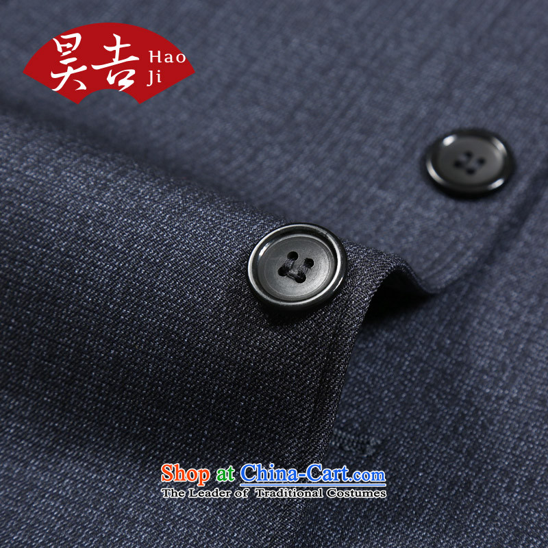 Ho Chi men aged Chinese tunic kit older persons men Zhongshan service load father Father Jacket Tang Chun, replacing dark, blue-gray聽70(165), Ho ji.... shopping on the Internet