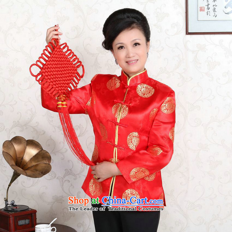158 Jing in Tang Dynasty older couples with collar China wind dress too Shou Yi wedding services will women?XXXL red