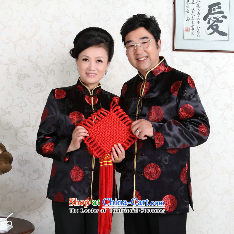 158 Jing in Tang Dynasty older couples with collar China wind dress too Shou Yi wedding services will?-D black men?XXXL