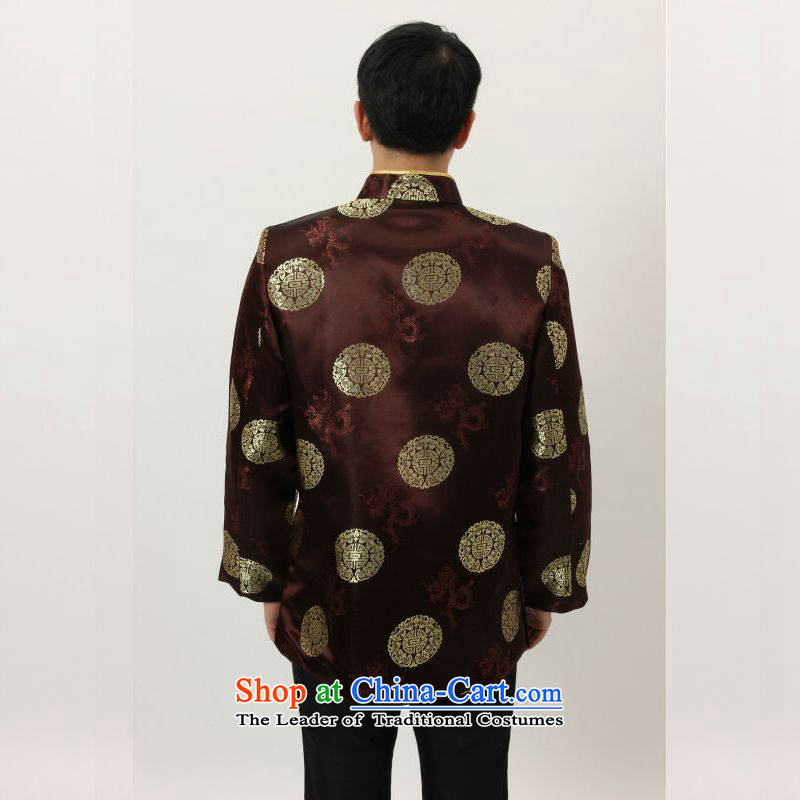 158 Jing in Tang Dynasty older collar China wind dress too Shou Yi wedding services will Chinese men and Tang dynasty M4002 coffee XL, 158 jing shopping on the Internet has been pressed.