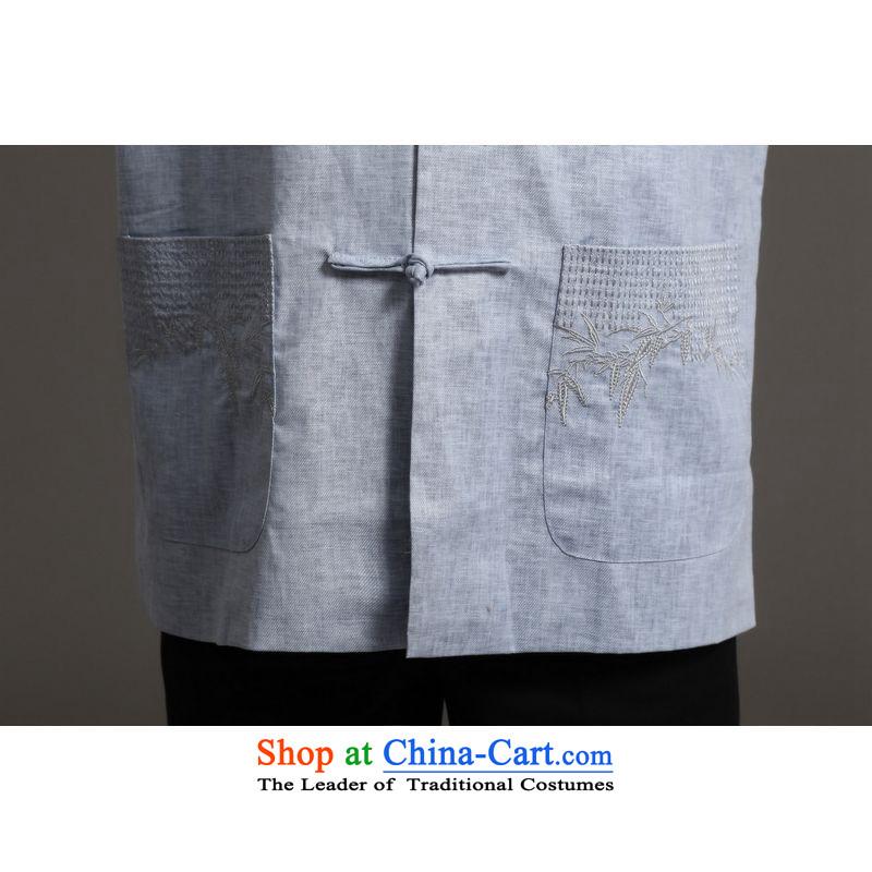 158 Jing Tang Dynasty Men long-sleeved sweater collar ethnic Han-tang聽- 2)聽158 Jing.... XXXL, shopping on the Internet