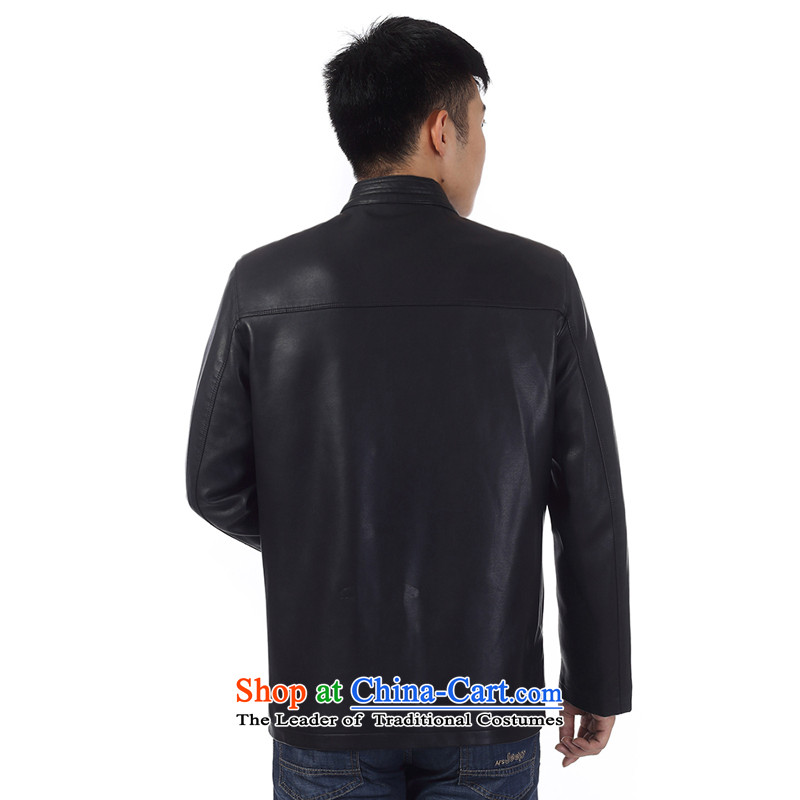 In the new priority Ho Tang dynasty older men leather garments leather jacket China wind and leather jacket father pack Black聽180, Ho information apparel , , , shopping on the Internet