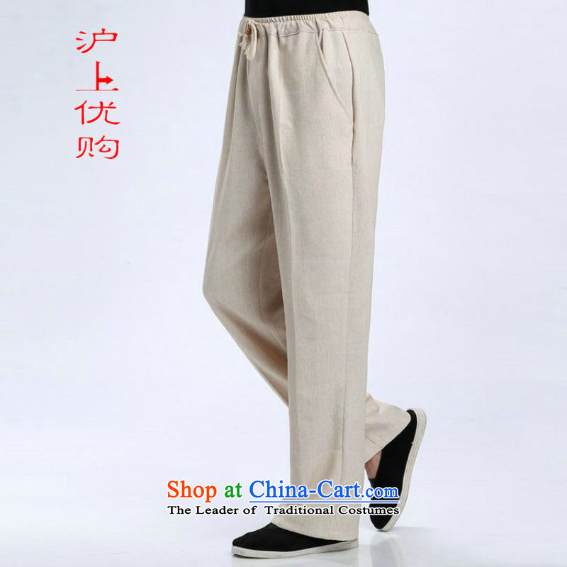 Shanghai, optimization options men Tang elastic waist pants cotton linen trousers and pants casual pants - 2 TROUTHES L, Shanghai, optimization options , , , shopping on the Internet