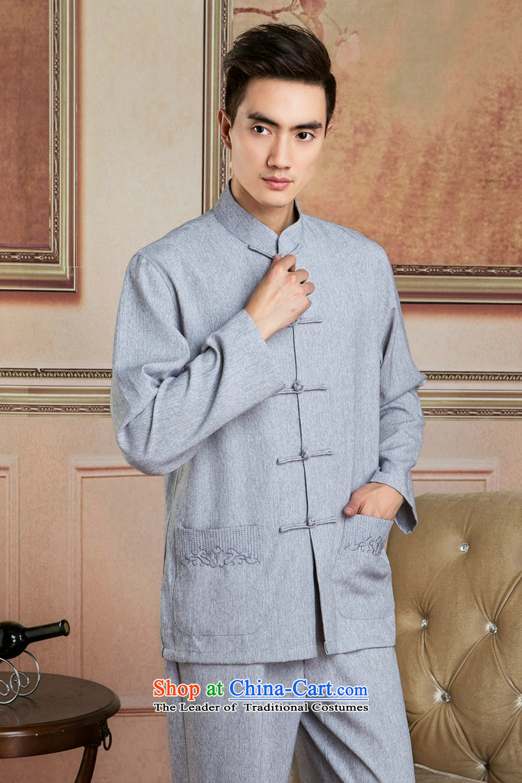 Picking Frequency Tang Dynasty Men long-sleeved sweater cotton linen collar Tang dynasty kung fu tai chi Services聽- 3) Netherlands shirt聽L picture, prices, brand platters! The elections are supplied in the national character of distribution, so action, buy now enjoy more preferential! As soon as possible.