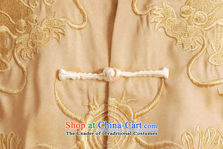 Picking Frequency Tang Dynasty Men long-sleeved national costumes men Tang jackets collar embroidery Chinese dragon yellow聽L picture, prices, brand platters! The elections are supplied in the national character of distribution, so action, buy now enjoy more preferential! As soon as possible.