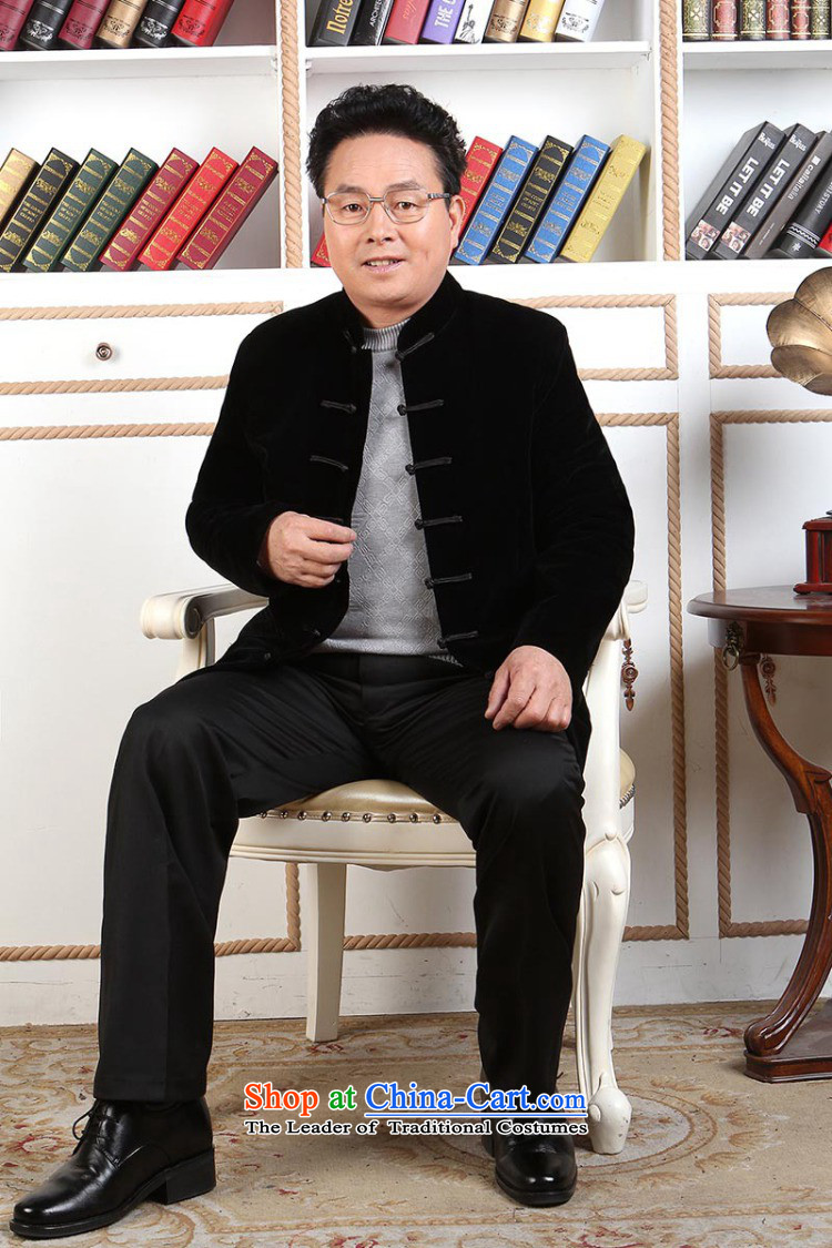Ms Au King Mansion to Tang dynasty men long-sleeved sweater in Tang Dynasty collar older men robe scouring pads made wedding dress black聽XXXL picture, prices, brand platters! The elections are supplied in the national character of distribution, so action, buy now enjoy more preferential! As soon as possible.