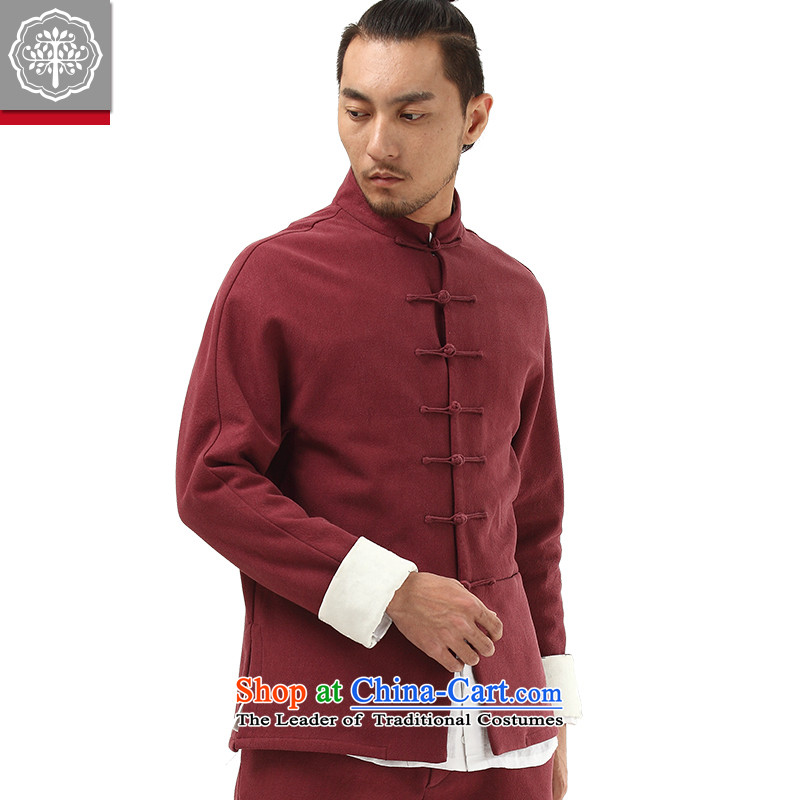 To Tang dynasty China wind tree men Han-improved Chinese men fall and winter coats the lint-free cotton linen color聽170/M, Hyun to thick tree (EYENSREE) , , , shopping on the Internet