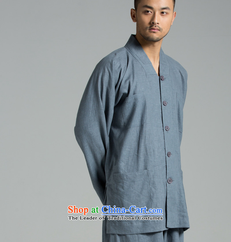 --- new summer Japan washed cotton linen cool breathability renunciates also packaged YXS02-311 short gray blue 311 M