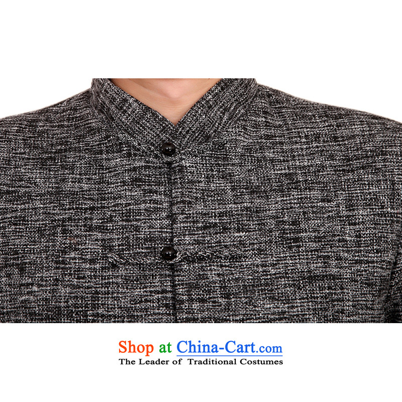 The new products and thre autumn and winter thick men in Tang Dynasty Older ethnic collar solid color men Tang Tang dynasty cotton add ãþòâ jacket, gray XXL/185, F2073 thre line (gesaxing and Tobago) , , , shopping on the Internet