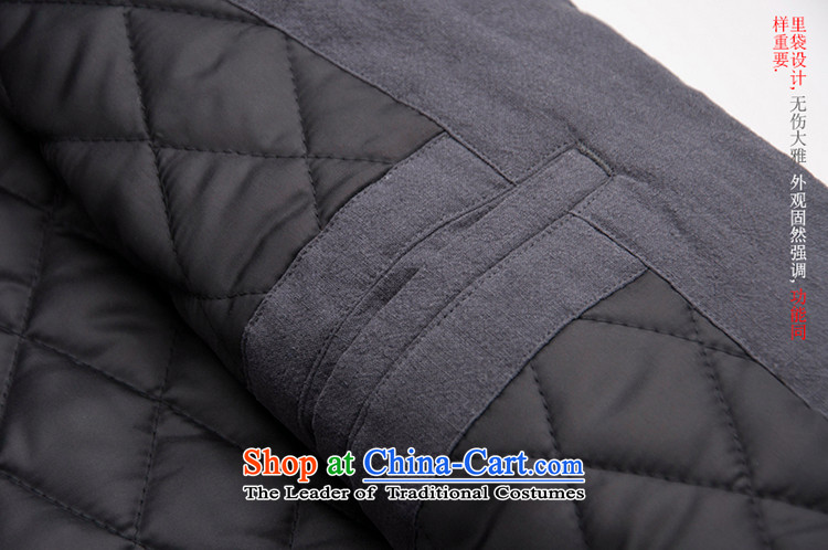 Seventy-tang New China wind original design of winter clothing clip cotton Tang jackets retro robe Men's Mock-Neck Shirt thoroughly Chinese Disc clip cotton coat national men's blue聽S picture, prices, brand platters! The elections are supplied in the national character of distribution, so action, buy now enjoy more preferential! As soon as possible.