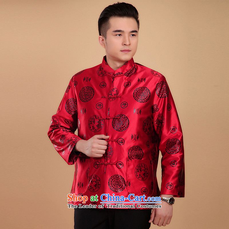 Women and men fall and winter jackets couples with tang father golden marriage apparel older birthday gift N2069 life too men red men_180