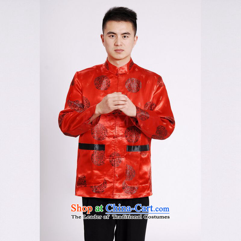 The elderly in the Arthur Min Tang dynasty China wind collar dress too Shou Yi wedding services will Chinese male Tang Red?L