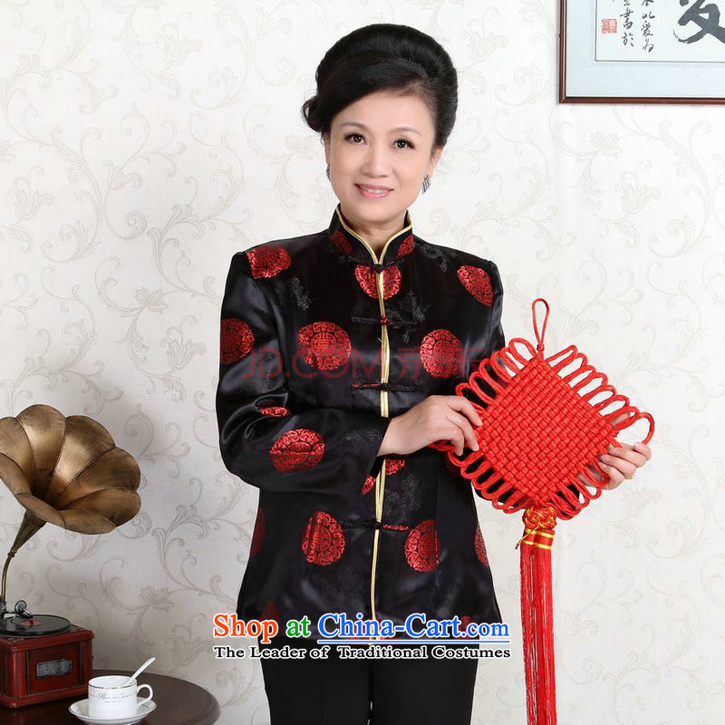 The elderly in the Arthur Min Tang dynasty couples with collar China wind dress too Shou Yi wedding services will?-D black women?XXXL