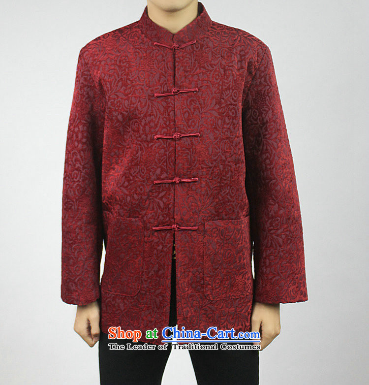 Boris poetry of high-end Federal Tang dynasty in Tang Dynasty elderly men in spring and autumn 2015 New Tang hand disk detained heavyweight jacquard Chinese collar Tang jackets red 190/XXXXXL picture, prices, brand platters! The elections are supplied in the national character of distribution, so action, buy now enjoy more preferential! As soon as possible.