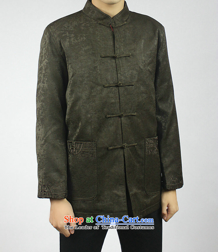 Mr Tang Dynasty poem federation male long-sleeved elderly men in Tang Dynasty聽2015 autumn and winter Tang hand-held national costumes Chinese collar Tang jackets聽170/XL coffee pictures, prices, brand platters! The elections are supplied in the national character of distribution, so action, buy now enjoy more preferential! As soon as possible.