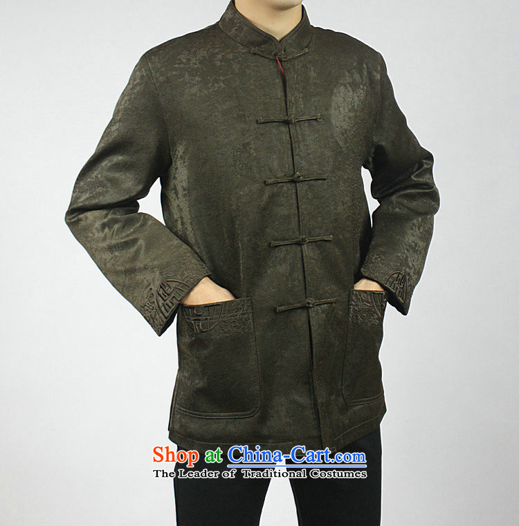 Mr Tang Dynasty poem federation male long-sleeved elderly men in Tang Dynasty 2015 autumn and winter Tang hand-held national costumes Chinese collar Tang jackets 170/XL coffee pictures, prices, brand platters! The elections are supplied in the national character of distribution, so action, buy now enjoy more preferential! As soon as possible.