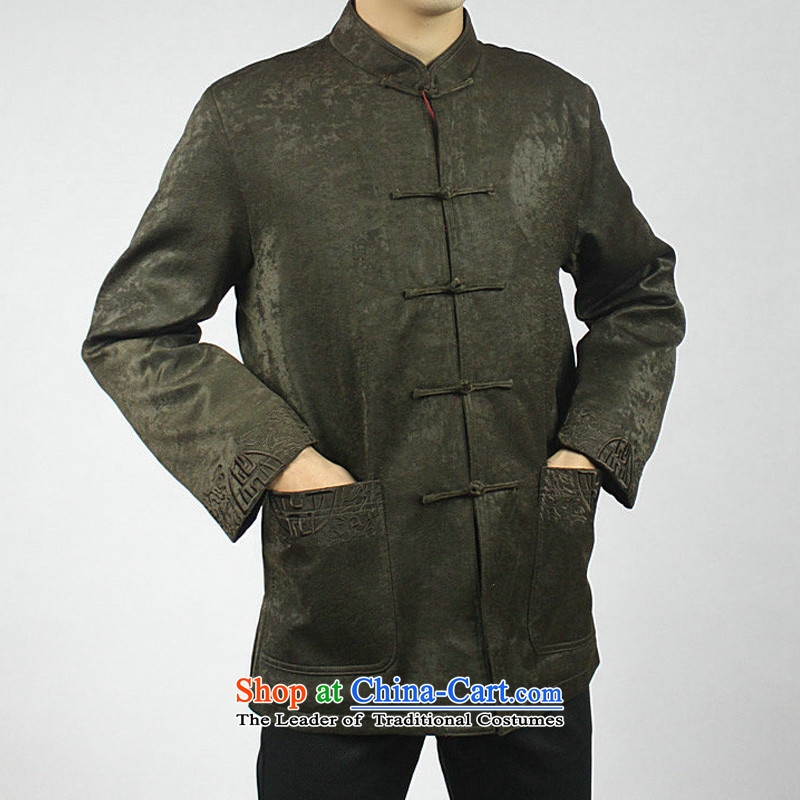 Mr Tang Dynasty poem federation male long-sleeved elderly men in Tang Dynasty 2015 autumn and winter Tang hand-held national costumes Chinese collar Tang jackets 170/XL, Federation Bao Shi coffee (lianbangbos) , , , shopping on the Internet